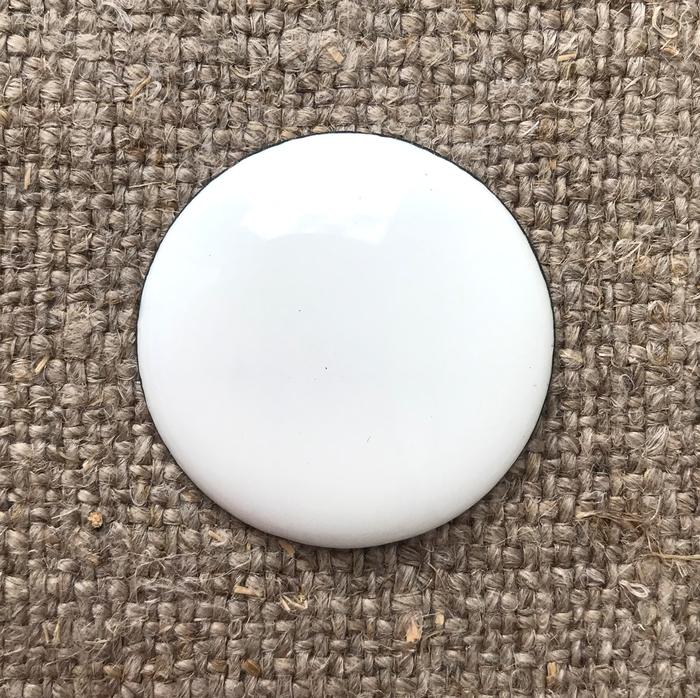 Пластина для эмалевой живописи готовая Круг 33 мм