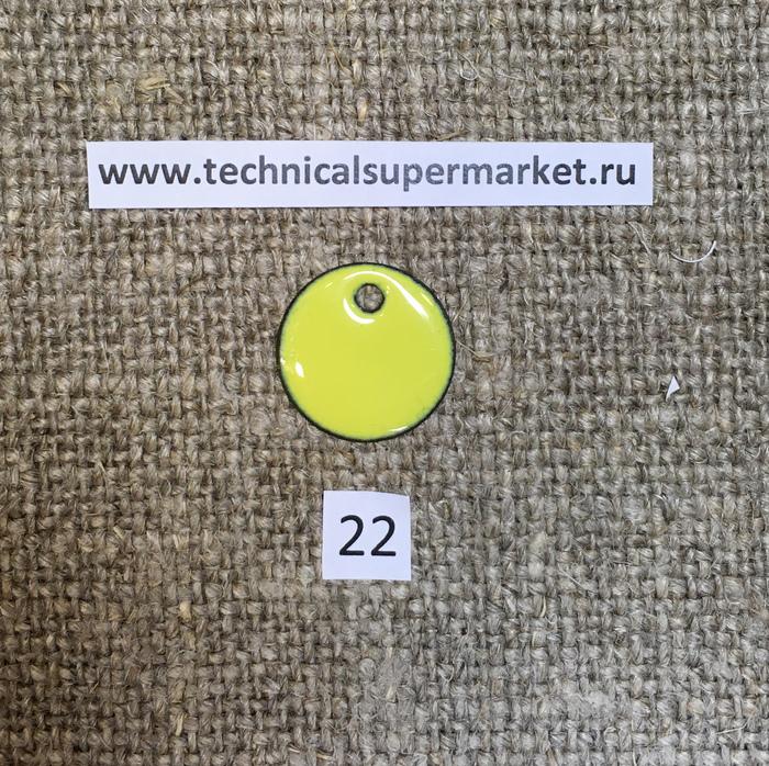 Дулево Эмаль Непрозрачная желтая №22 молотая 20 гр.