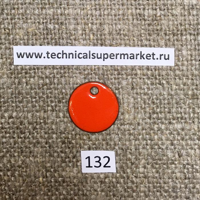 Дулево Эмаль Непрозрачная оранжевая №132 молотая 20 гр.